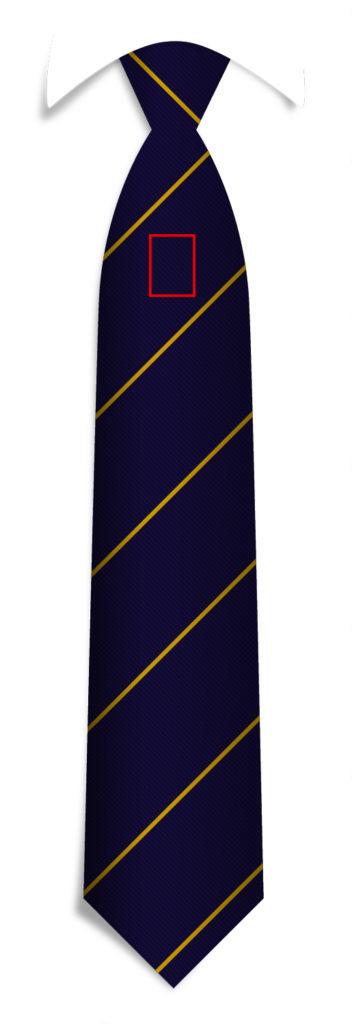 Under Knot Logo Position - Necktie Design